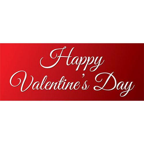 Simplemente Feliz Día De San Valentín Pvc Fiesta Letrero Decoración 60 Cm X 25 Cm