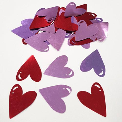 Decoraciones De Mesa De Confeti De Corazón De Papel De Aluminio Jumbo De San Valentín 14 Gramos