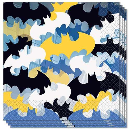 Servilletas Batman 33Cm 2 Capas - Paquete De 16
