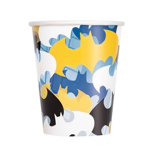 Vasos De Papel Batman 270Ml - Paquete De 8