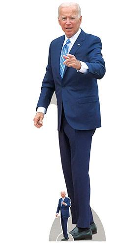 Joe Biden Presidente Señalando Un Recorte De Cartón De Tamaño Natural De 185 Cm