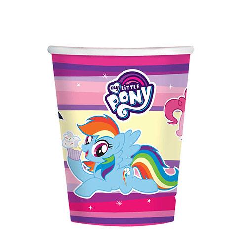Vasos De Papel My Little Pony 250Ml - Paquete De 8
