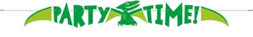 Banner De Papel De Dinosaurio De Tiempo De Fiesta 150Cm