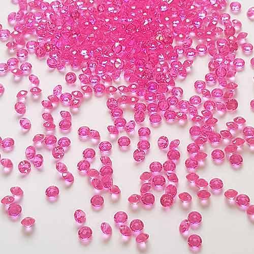 Pequeñas Gemas De Mesa Premium Rosa Fuerte De 6 Mm De Diamantes 28 G
