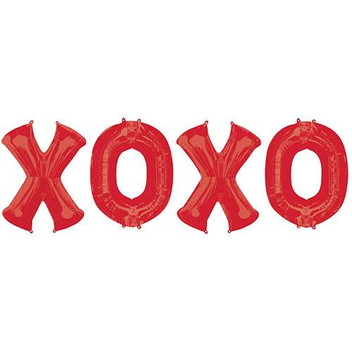 X-O-X-O Kit De Ramo De Globos De Papel De Aluminio Rojo Para El Día De San Valentín
