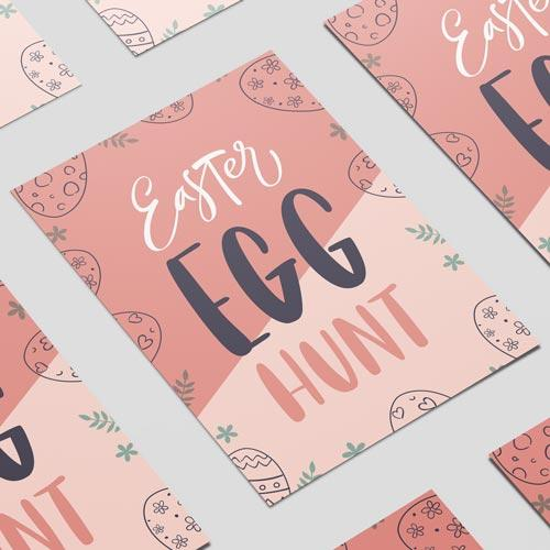 Easter Egg Hunt Pastel A3 Poster Pvc Party Sign Decoración 42Cm X 30Cm
