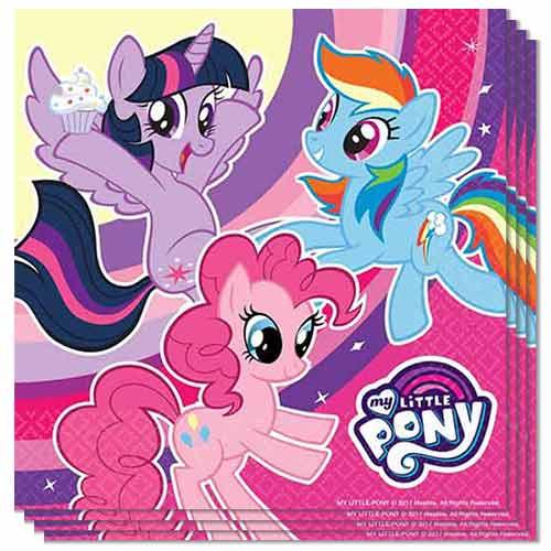 Servilletas My Little Pony 33Cm 2 Capas - Paquete De 20