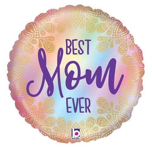 Opal Best Mom Ever Boho Globo De Helio De Lámina Redonda 53Cm / 21 In