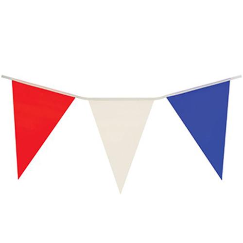 Banderín De Plástico Rojo, Blanco Y Azul, 7M