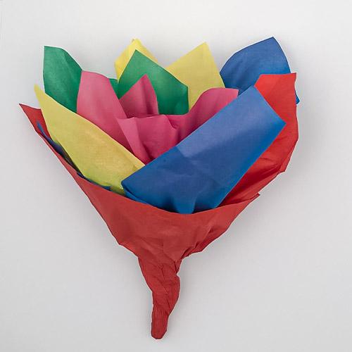 Papel Tisú Surtido De Colores Brillantes Para Regalo - Paquete De 10