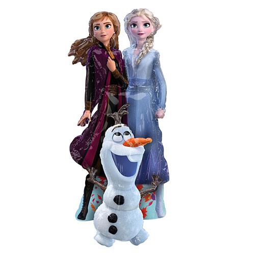 Frozen Ii Elsa Anna Y Olaf Airwalker Foil Globo De Helio 147Cm / 58 In