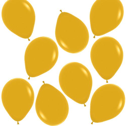 Mini Globos De Látex Biodegradables Amarillo Mostaza 13Cm / 5 Pulgadas - Paquete De 100