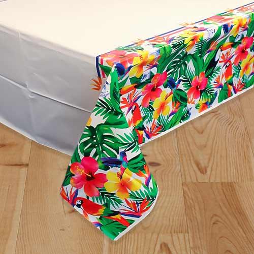 Mantel De Plástico Palm Tropical Luau 213Cm X 137Cm