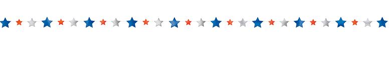 Guirnalda De Papel De Estrellas Patrióticas 274Cm