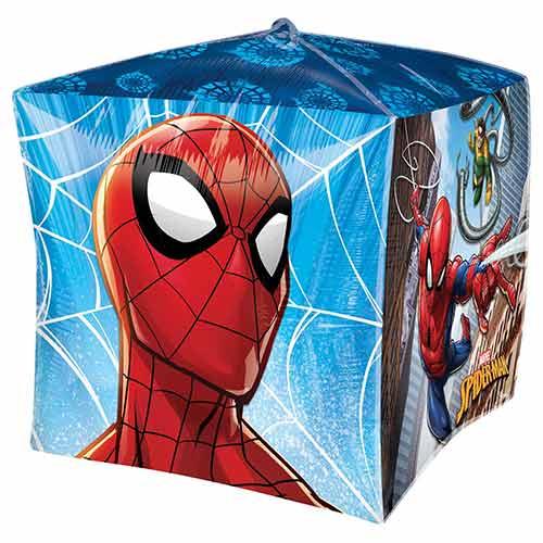 Globo De Helio De Lámina De Spider-Man Cubez 38Cm / 15 In