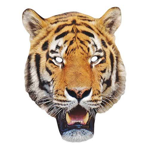 Mascarilla De Cartón Animal Tigre