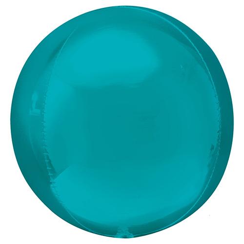Aqua Blue Orbz Foil Helium Balloon 38cm / 15 in