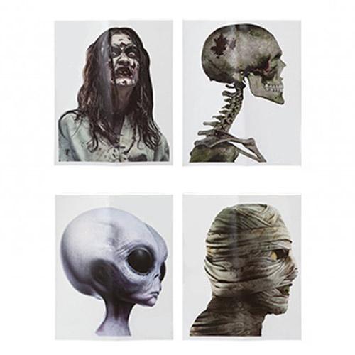 Decoración Variada De La Etiqueta Engomada De La Ventana Del Coche De Los Personajes De Halloween