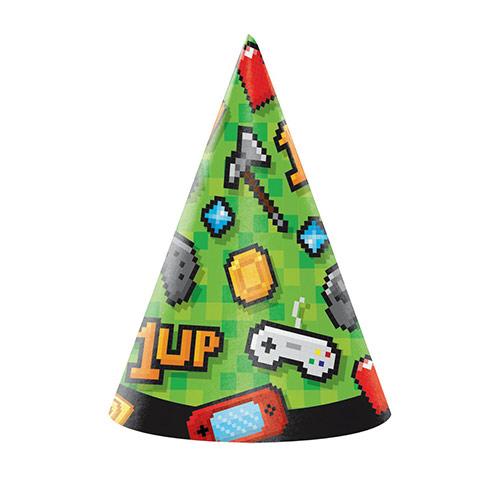Sombreros De Fiesta Con Cono Para Juegos - Paquete De 8