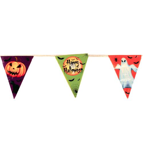 Banderines De Plástico Con Bandera De Halloween 365Cm