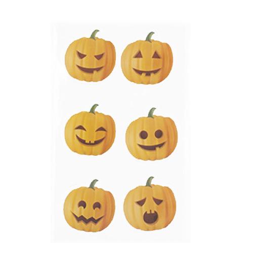 Calabaza Halloween Gel Ventana Pegatinas Decoraciones