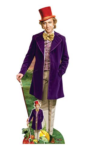Willy Wonka Y La Fábrica De Chocolate Gene Wilder Recorte De Cartón De Tamaño Natural 193Cm