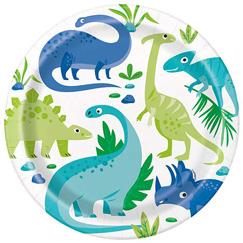 Suministros De Fiesta De Dinosaurio Azul Y Verde