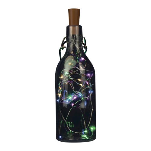 Botella De Corcho De Plástico Con Decoración De Luces De Cadena De Varios Colores