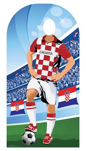 Croacia Fútbol Stand-In Recorte De Cartón 190Cm