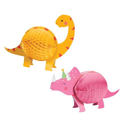 Dino Party Girl Kit De Decoración De Mesa De Centro De Mesa De Nido De Abeja