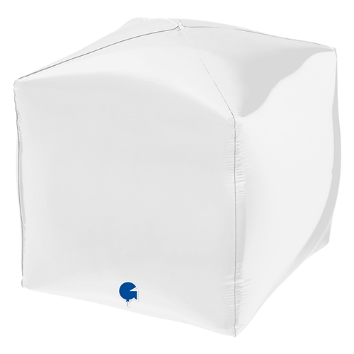 Globo De Helio De Lámina De Forma Cuadrada 4D Blanco 38Cm / 15 In