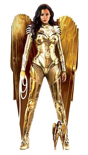 Wonder Woman Gold Armor Ww84 Recorte De Cartón De Tamaño Natural 186Cm