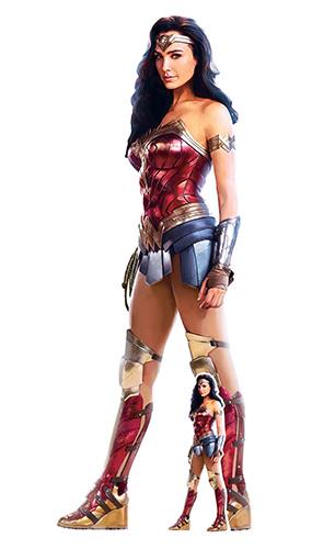 Wonder Woman Ww84 Recorte De Cartón De Tamaño Natural 186Cm