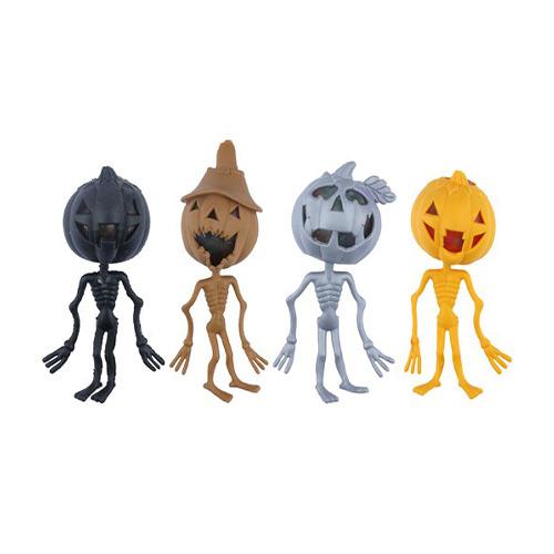 Surtido De Esqueleto De Calabaza Con Forma De Calabaza Para Aliviar El Estrés De Halloween Con Cuentas De 14 Cm