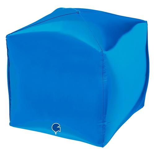 Globo De Helio De Lámina De Forma Cuadrada Azul 4D 38Cm / 15 In