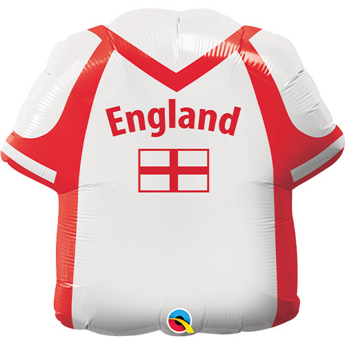 Globo Gigante De Papel De Helio Con Forma De Camisa De Inglaterra 56Cm / 22 In