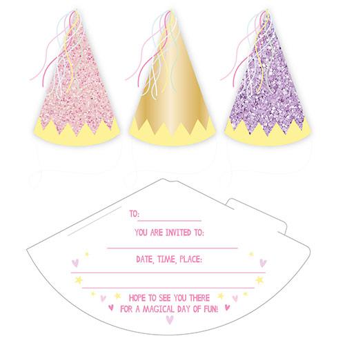 Invitaciones De Princesa De Hadas Con Sobres - Paquete De 6