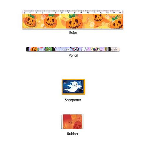Conjunto De Favor De Papelería De Halloween