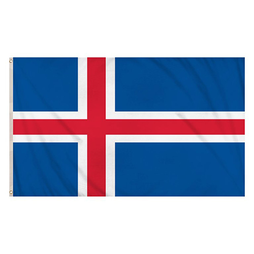 Bandera De Islandia 5 X 3 Pies