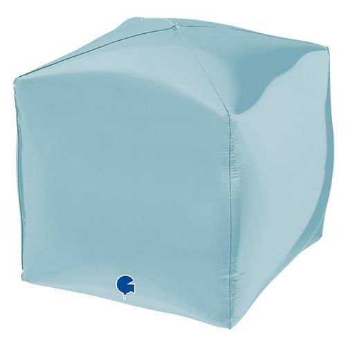 Globo De Helio De Lámina De Forma Cuadrada Azul Pastel 4D 38Cm / 15 In
