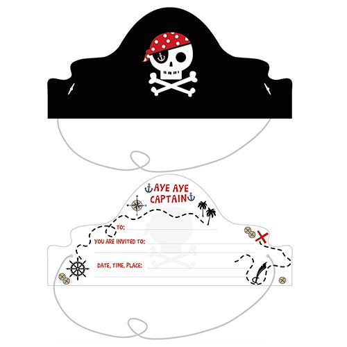 Invitaciones De La Isla Del Tesoro Pirata Con Sobres - Paquete De 8