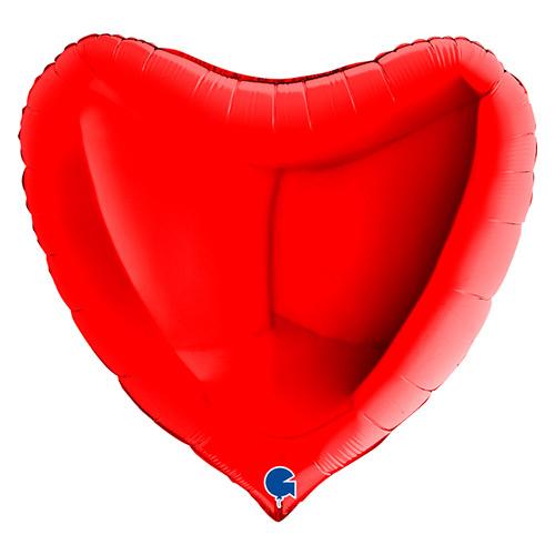 Globo Gigante De Helio Con Forma De Corazón Rojo 91Cm / 36 In