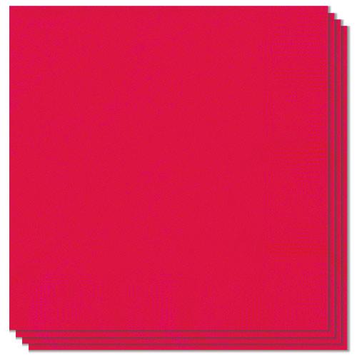 Servilletas Rojo Rubí 33Cm 2 Capas - Paquete De 20
