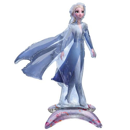 Sentado Frozen 2 Elsa Air Fill Globo Gigante De Aluminio 63Cm