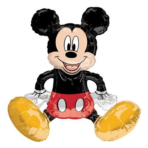Globo Gigante De Papel De Aluminio Con Relleno De Aire De Mickey Mouse Sentado 45Cm