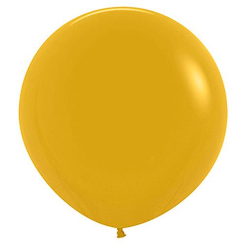 Globos De Látex Biodegradables Mostaza Amarilla De Moda 60Cm / 24 Pulgadas - Paquete De 3