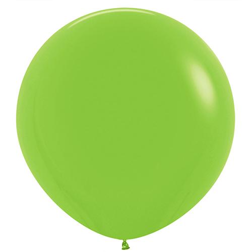 Globos De Látex Gigantes Redondos De Color Verde Lima Sólido De Moda 91Cm / 36 In - Paquete De 2