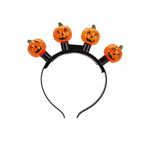 Diadema De Halloween De Calabaza Intermitente