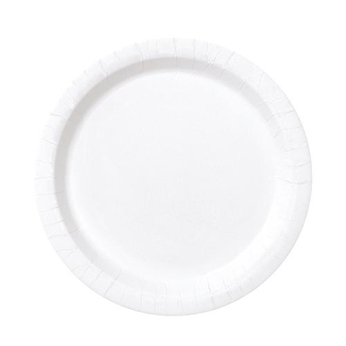 Platos De Papel Redondos Blancos 17Cm - Paquete De 20
