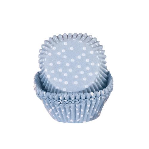 Estuches Para Cupcakes Con Lunares Celestes - Paquete De 72